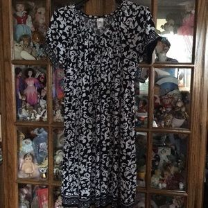 Just My Size Black And white Dress Size 1X